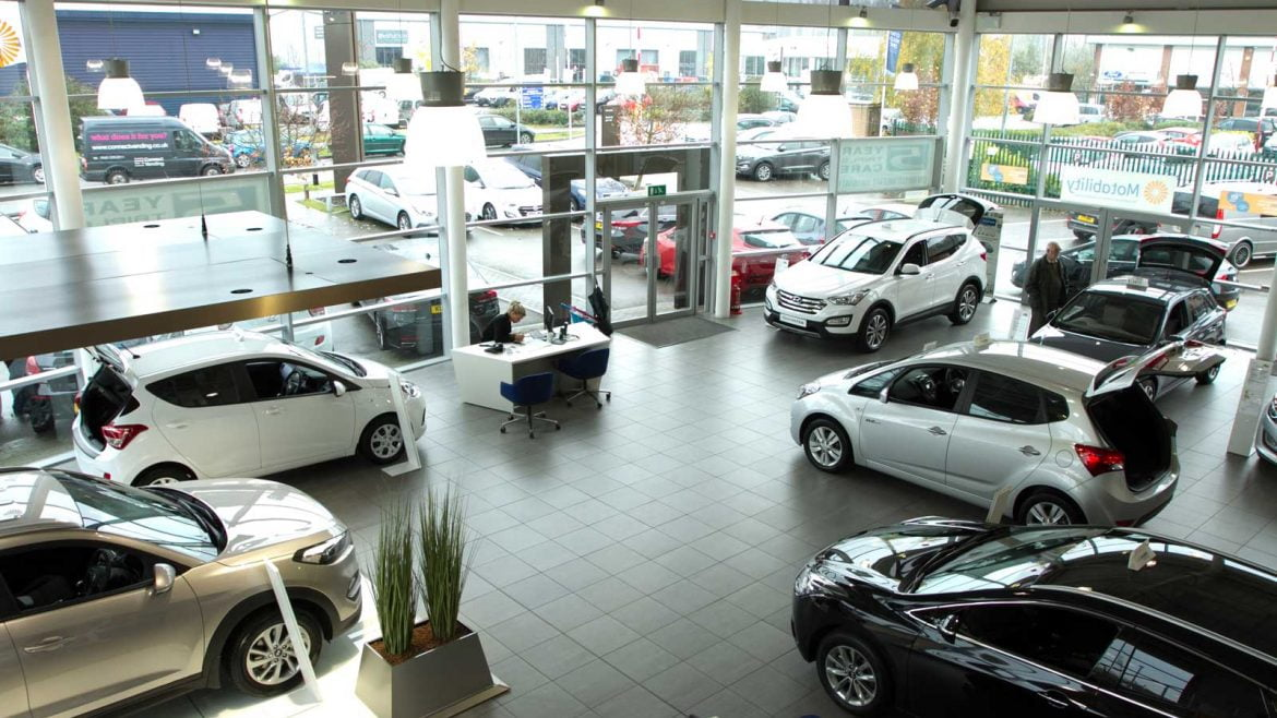 Car dealer showroom