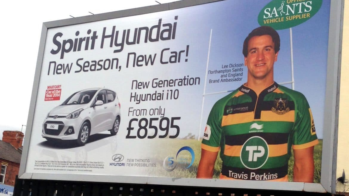 Poster campaign for car dealer