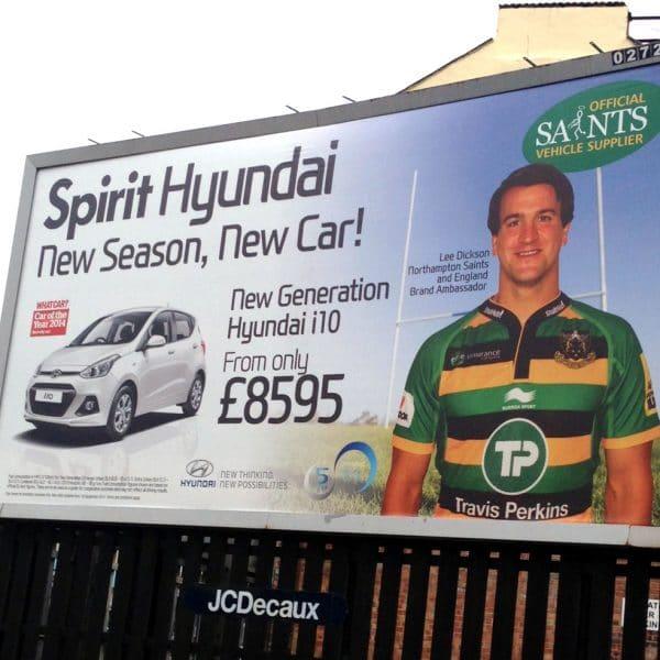 Poster campaign for car dealer